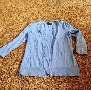 New York &co periwinkle blue 3/4 sleeve cardigan